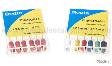 China 25mm Hand Dental Pluggers , Endo Stainless Steel Finger Spreaders supplier